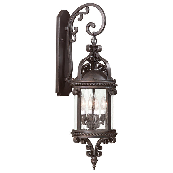 Troy Lighting BCD9122OBZ Pamplona 4lt Wall Lantern Large in Hand-Forged Iron