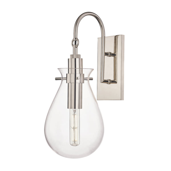 Hudson Valley Lighting BKO100-PN Ivy 1 Light Wall Sconce in Polished Nickel