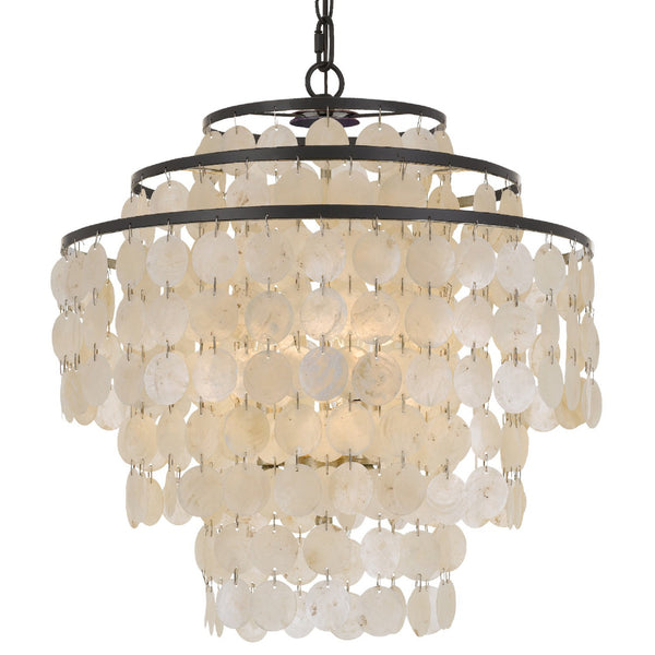 Crystorama BRI-3008-DB Brielle Chandelier in Dark Bronze