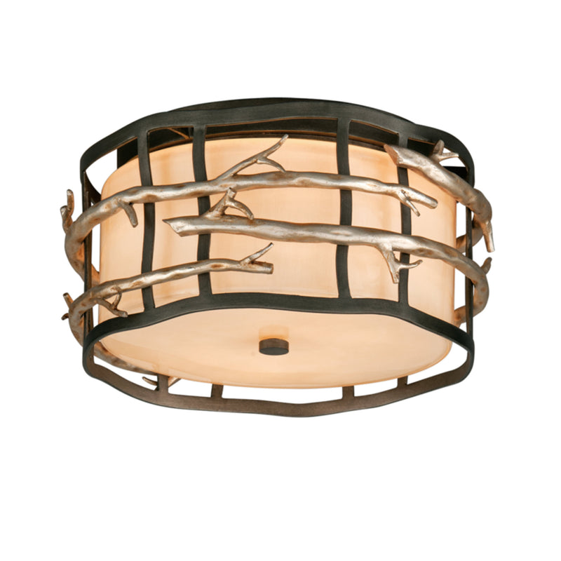Troy Lighting C2880 Adirondack 2lt Ceiling Flush in Hand-Worked Iron