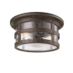 Troy Lighting C3310 Barbosa 2lt Ceiling Flush in Hand-Worked Iron