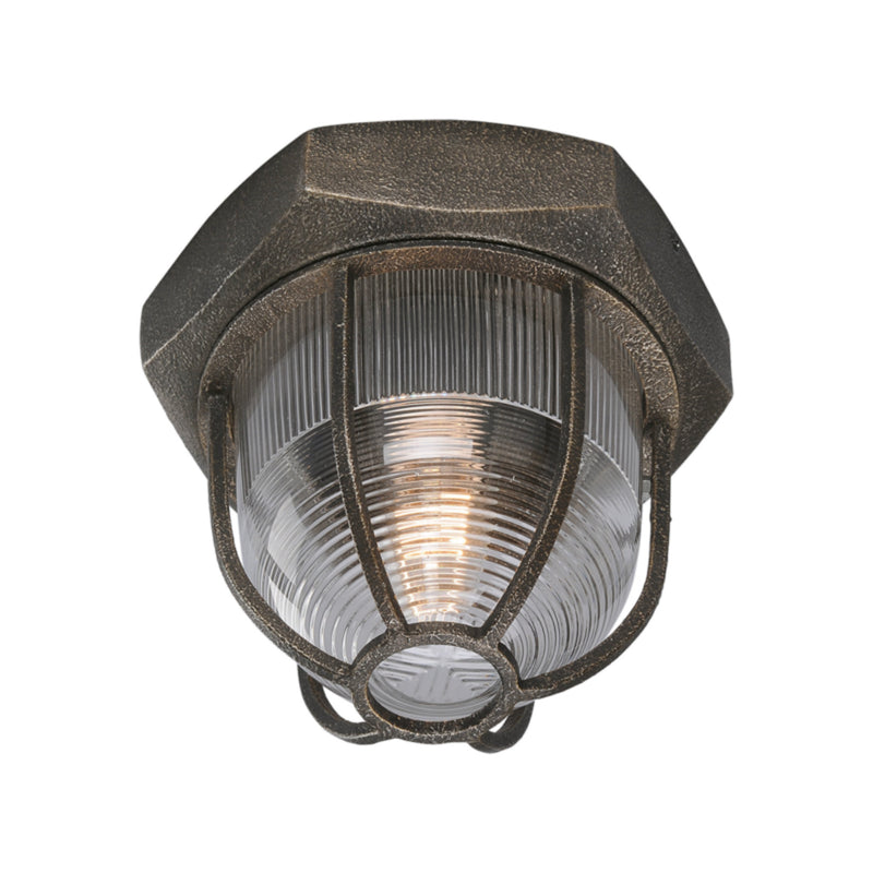 Troy Lighting C3890 Acme 1lt Ceiling Flush in Solid Aluminum