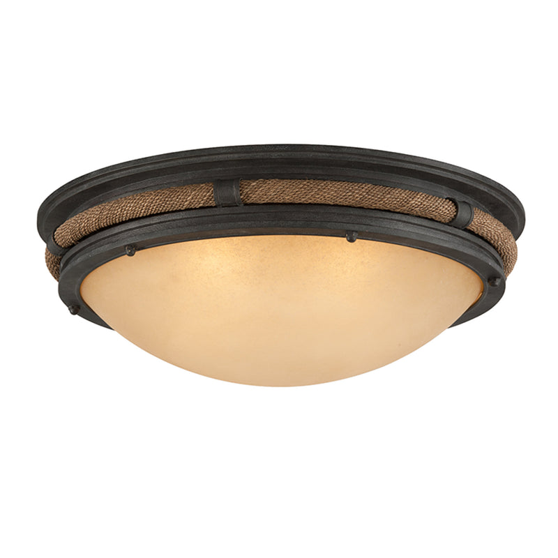 Troy Lighting C4122 Pike Place 4lt Flush Extra Large in Solid Aluminum