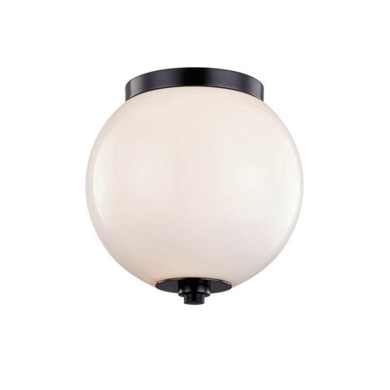 Troy Lighting C7580 Nova 1lt Flush in Solid Aluminum