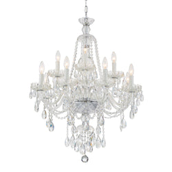 Crystorama CAN-A1312-CH-CL-SAQ Candace Chandelier in Polished Chrome