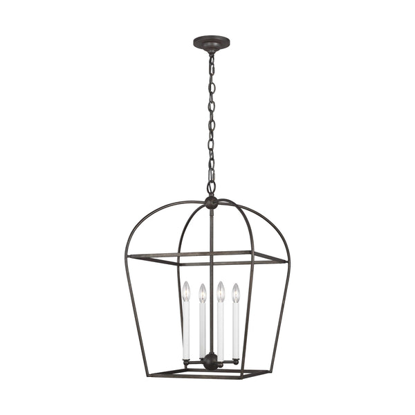 Generation Lighting CC1094SMS Chapman & Myers Stonington 4 Light Chandelier in Smith Steel