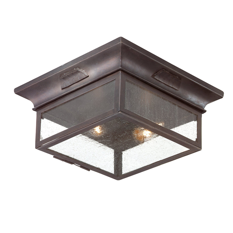 Troy Lighting CCD9000OBZ Newton 2lt Flush in Hand-Forged Iron