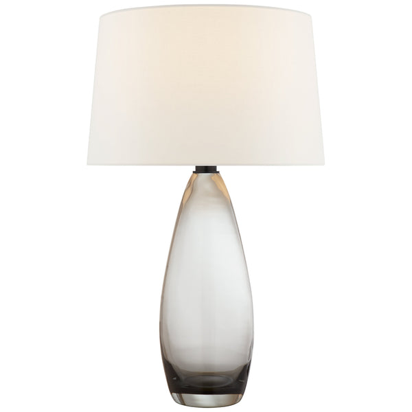 Visual Comfort CHA 3420SMG-L Chapman & Myers Myla Large Tall Table Lamp in Smoked Glass