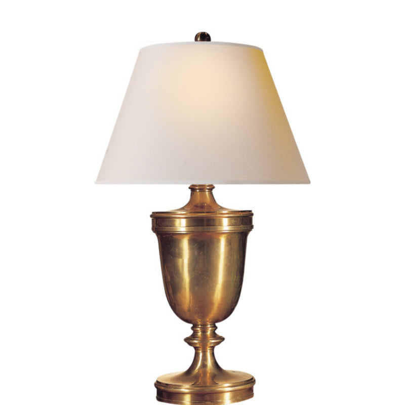 Visual Comfort CHA 8162AB-NP Chapman & Myers Classical Urn Form Large Table Lamp in Antique-Burnished Brass