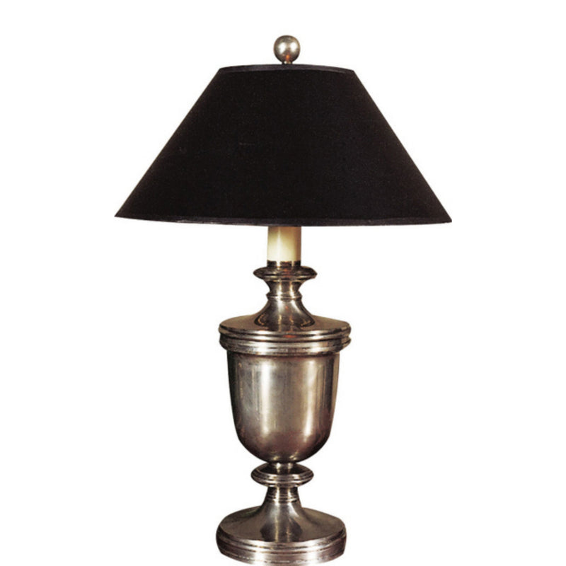Visual Comfort CHA 8172AN-B Chapman & Myers Classical Urn Form Medium Table Lamp in Antique Nickel