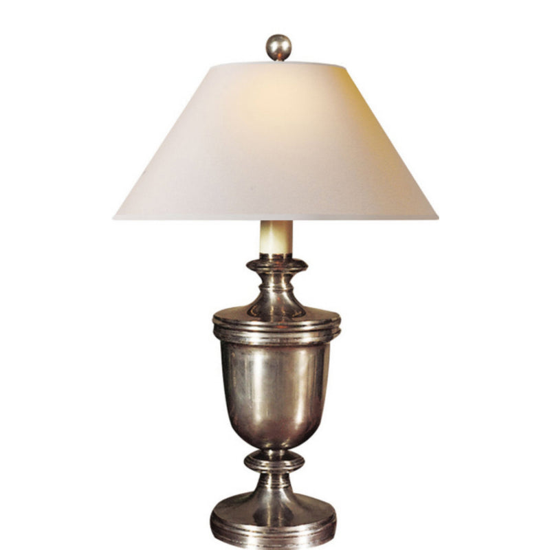 Visual Comfort CHA 8172AN-NP Chapman & Myers Classical Urn Form Medium Table Lamp in Antique Nickel