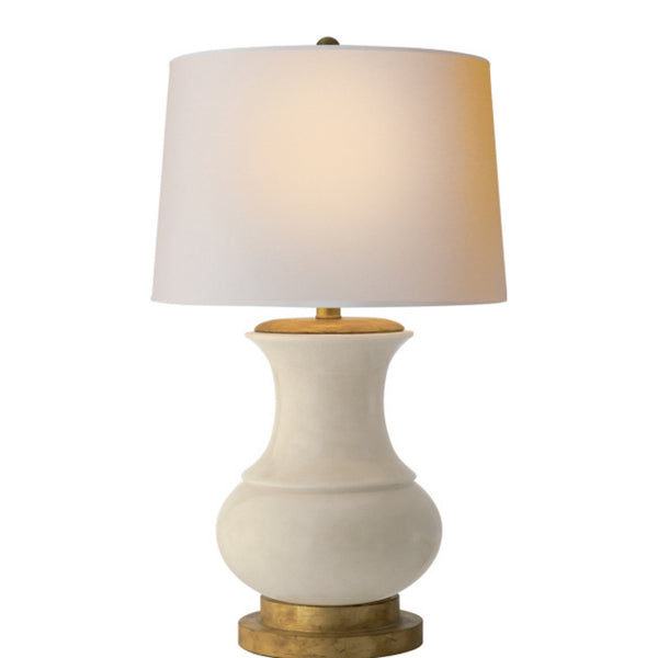 Visual Comfort CHA 8608TS-NP Chapman & Myers Deauville Table Lamp in Tea Stain Crackle