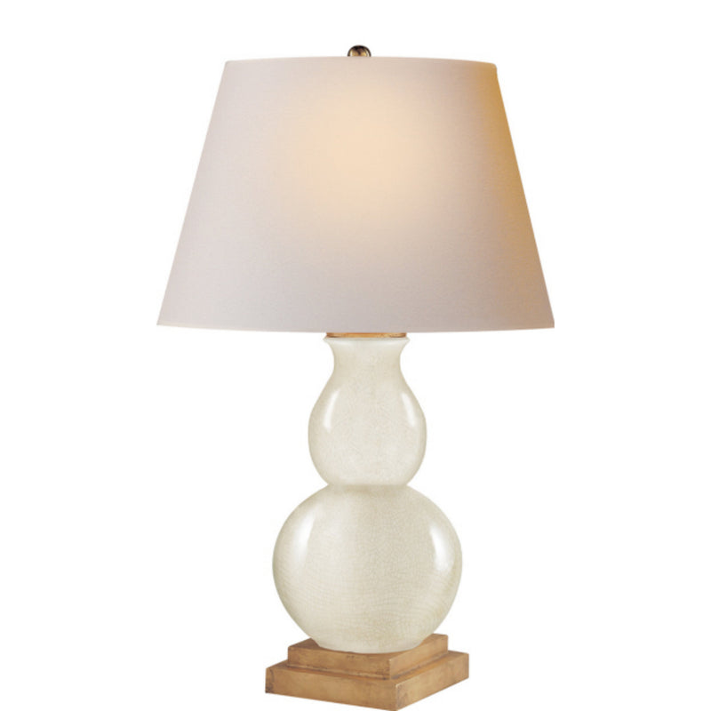 Visual Comfort CHA 8613TS-NP Chapman & Myers Gourd Form Small Table Lamp in Tea Stain Crackle