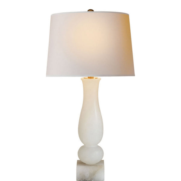 Visual Comfort CHA 8646ALB-NP Chapman & Myers Contemporary Balustrade Table Lamp in Alabaster