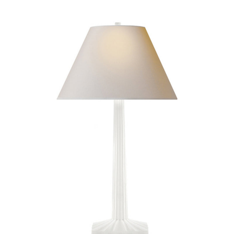 Visual Comfort CHA 8707WHT-NP Chapman & Myers Strie Fluted Column Table Lamp in Plaster White