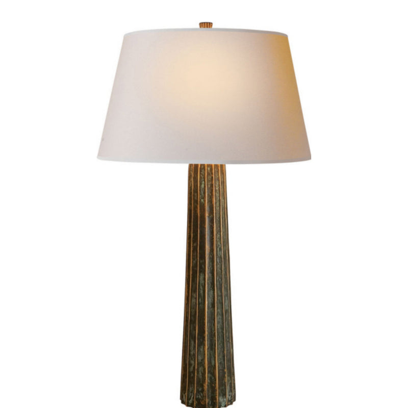 Visual Comfort CHA 8906BZV-NP Chapman & Myers Fluted Spire Large Table Lamp in Bronze