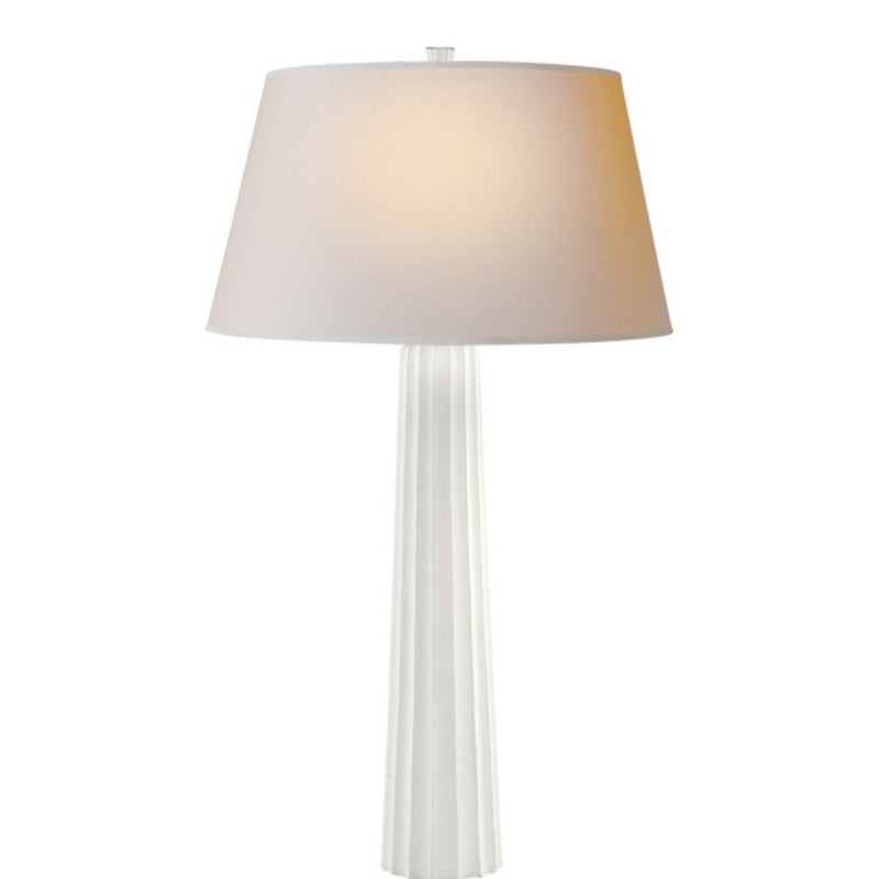 Visual Comfort CHA 8906WHT-NP Chapman & Myers Fluted Spire Large Table Lamp in Plaster White