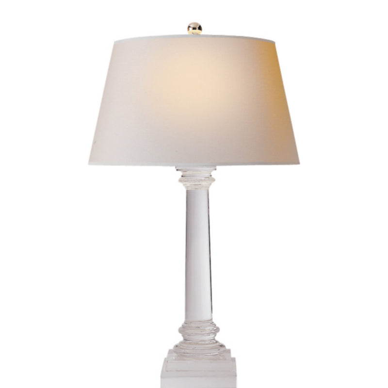 Visual Comfort CHA 8926CG-NP Chapman & Myers Slender Column Table Lamp in Crystal
