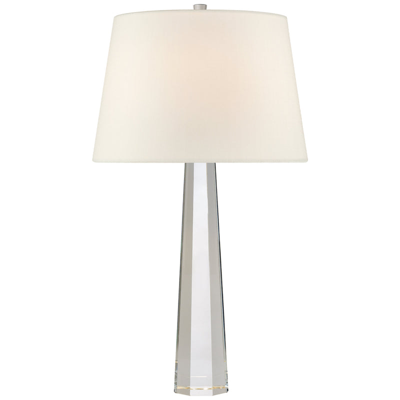 Visual Comfort CHA 8950CG-L Chapman & Myers Octagonal Spire Medium Table Lamp in Crystal