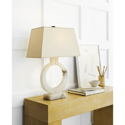 Visual Comfort CHA 8970ALB-NP Chapman & Myers Ring Form Large Table Lamp in Alabaster