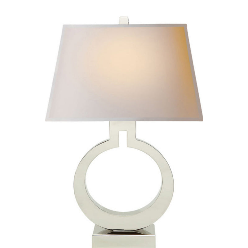 Visual Comfort CHA 8970PN-NP Chapman & Myers Ring Form Large Table Lamp in Polished Nickel