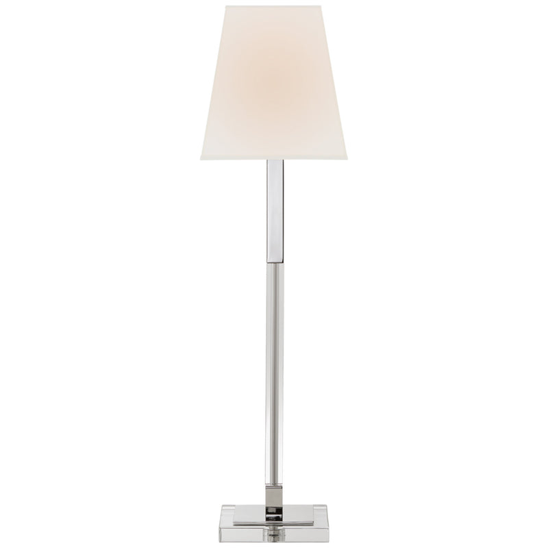 Visual Comfort CHA 8989PN/CG-L Chapman & Myers Reagan Buffet Lamp in Polished Nickel and Crystal