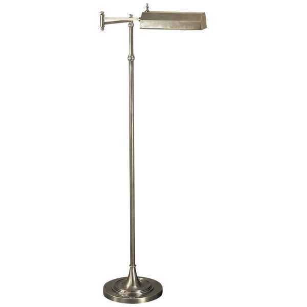 Visual Comfort CHA 9107AN Chapman & Myers Dorchester Swing Arm Pharmacy Floor Lamp in Antique Nickel