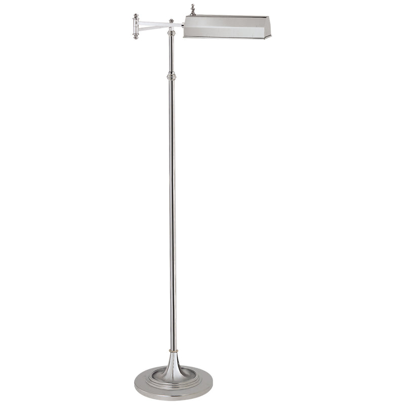 Visual Comfort CHA 9107PN Chapman & Myers Dorchester Swing Arm Pharmacy Floor Lamp in Polished Nickel