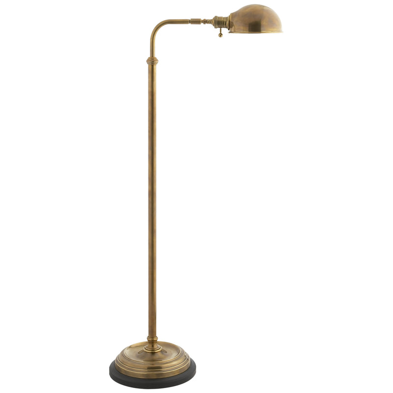Visual Comfort CHA 9161AB Chapman & Myers Apothecary Floor Lamp in Antique-Burnished Brass