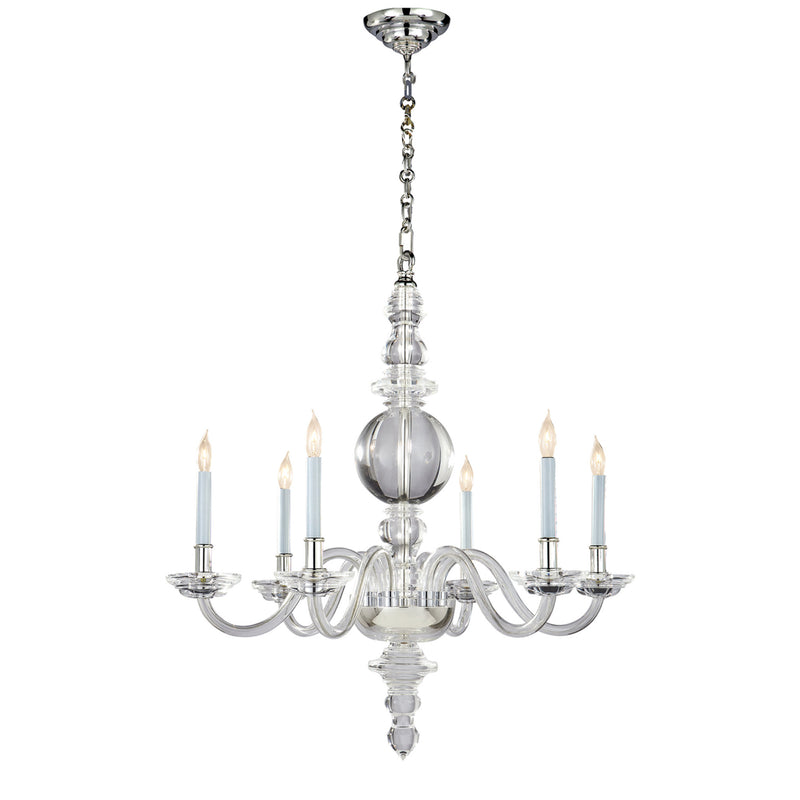 Visual Comfort CHC 1154CG/PN Chapman & Myers George II Large Chandelier in Crystal with Polished Nickel