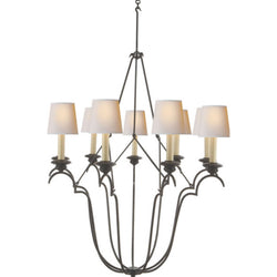 Visual Comfort CHC 1403AI-NP Chapman & Myers Belvedere Chandelier in Aged Iron