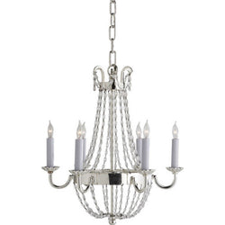 Visual Comfort CHC 1407PS-SG Chapman & Myers Petite Paris Flea Market Chandelier in Polished Silver