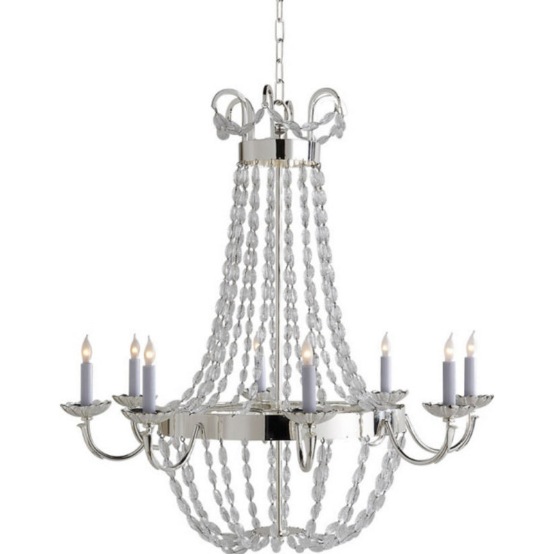 Visual Comfort CHC 1408PS-SG Chapman & Myers Paris Flea Market Large Chandelier in Polished Silver