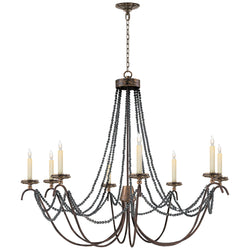 Visual Comfort CHC 1413R Chapman & Myers Marigot Large Chandelier in Hand Painted Rust Finish