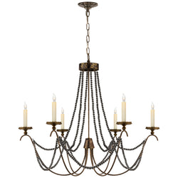 Visual Comfort CHC 1415R Chapman & Myers Marigot Medium Chandelier in Hand Painted Rust Finish