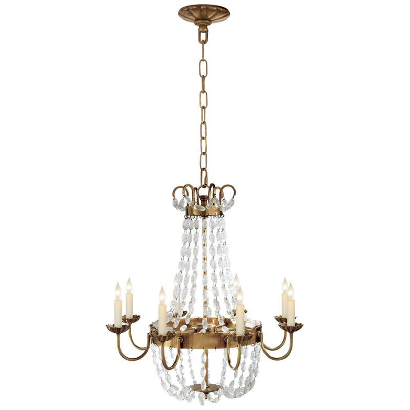 Visual Comfort CHC 1426AB-SG Chapman & Myers Paris Flea Market Medium Chandelier in Antique-Burnished Brass