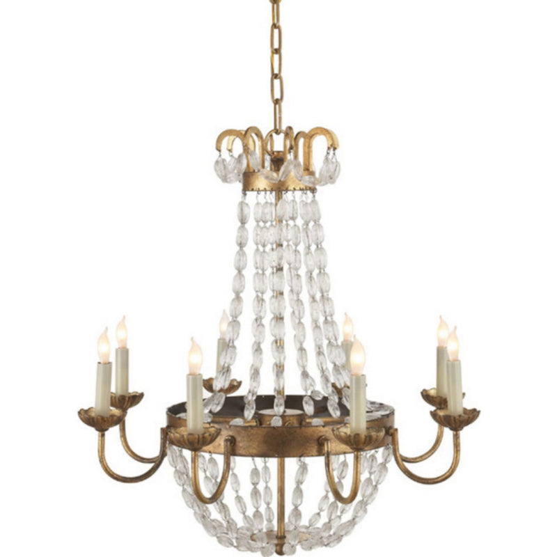 Visual Comfort CHC 1426GI-SG Chapman & Myers Paris Flea Market Medium Chandelier in Gilded Iron