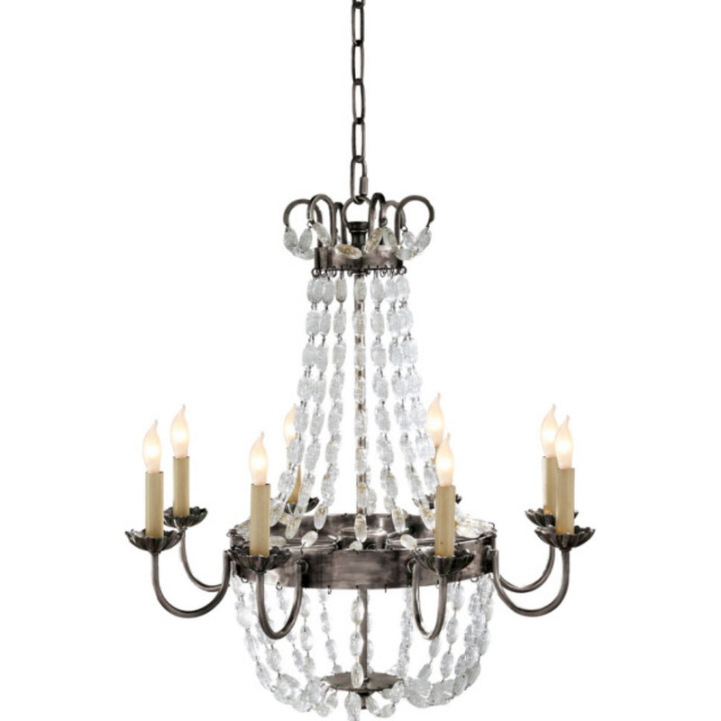 Visual Comfort CHC 1426SHS-SG Chapman & Myers Paris Flea Market Medium Chandelier in Sheffield Silver