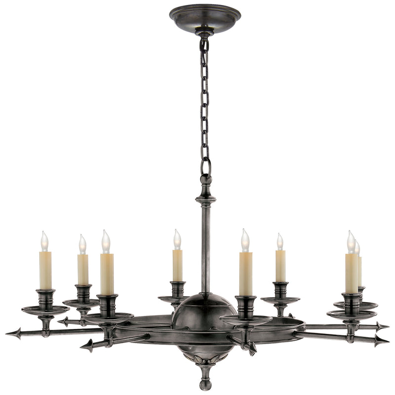 Visual Comfort CHC 1447BZ Chapman & Myers Leaf and Arrow Large Chandelier in Bronze