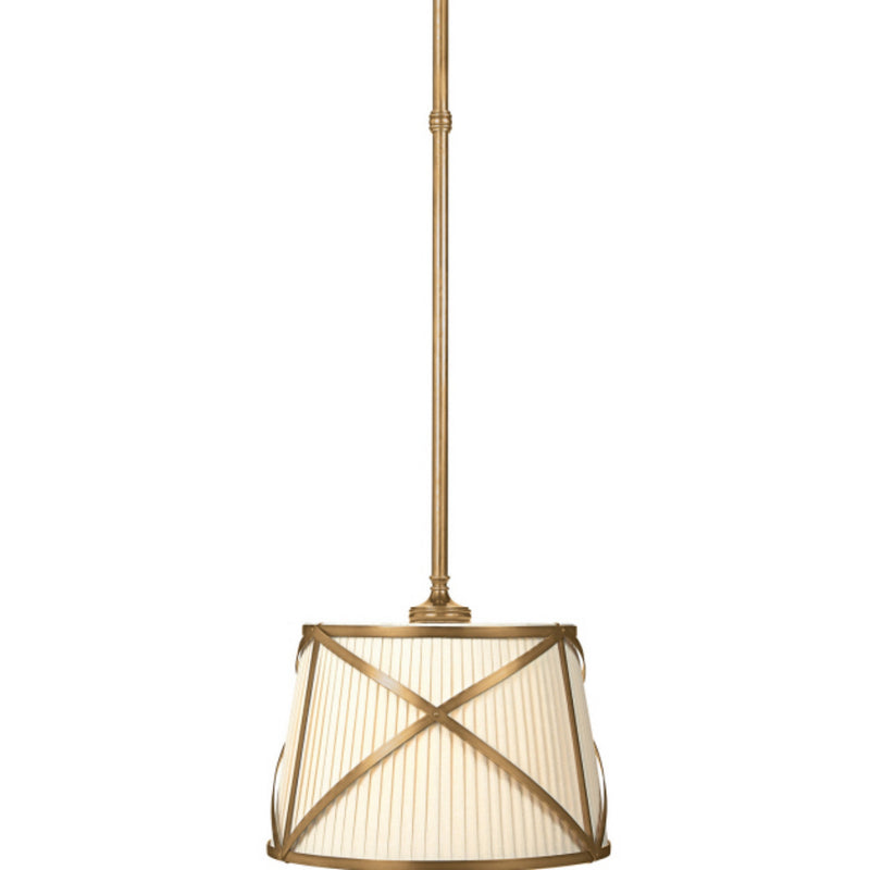 Visual Comfort CHC 1480AB-L Chapman & Myers Grosvenor Single Hanging Shade in Antique-Burnished Brass
