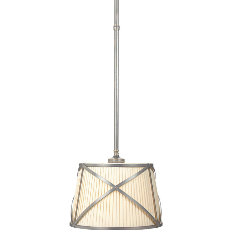 Visual Comfort CHC 1480AN-L Chapman & Myers Grosvenor Single Hanging Shade in Antique Nickel
