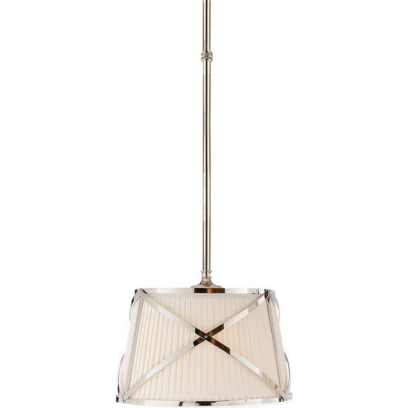 Visual Comfort CHC 1480PN-L Chapman & Myers Grosvenor Single Hanging Shade in Polished Nickel