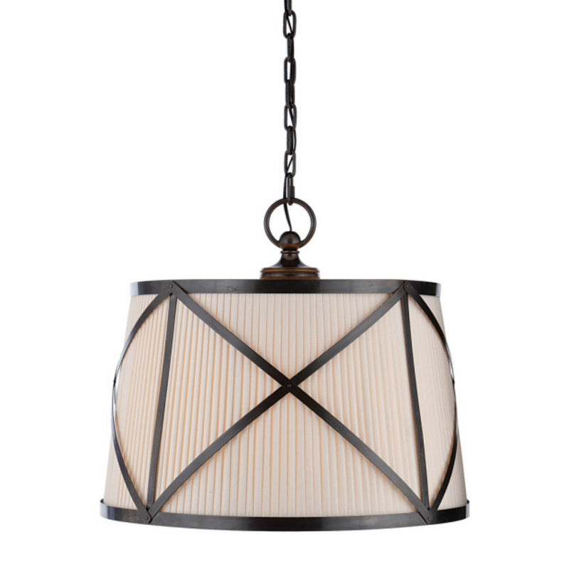 Visual Comfort CHC 1483BZ-L Chapman & Myers Grosvenor Large Single Hanging Shade in Bronze