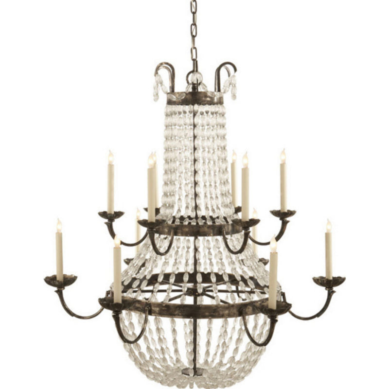 Visual Comfort CHC 1508SHS-SG Chapman & Myers Paris Flea Market Grande Chandelier in Sheffield Silver