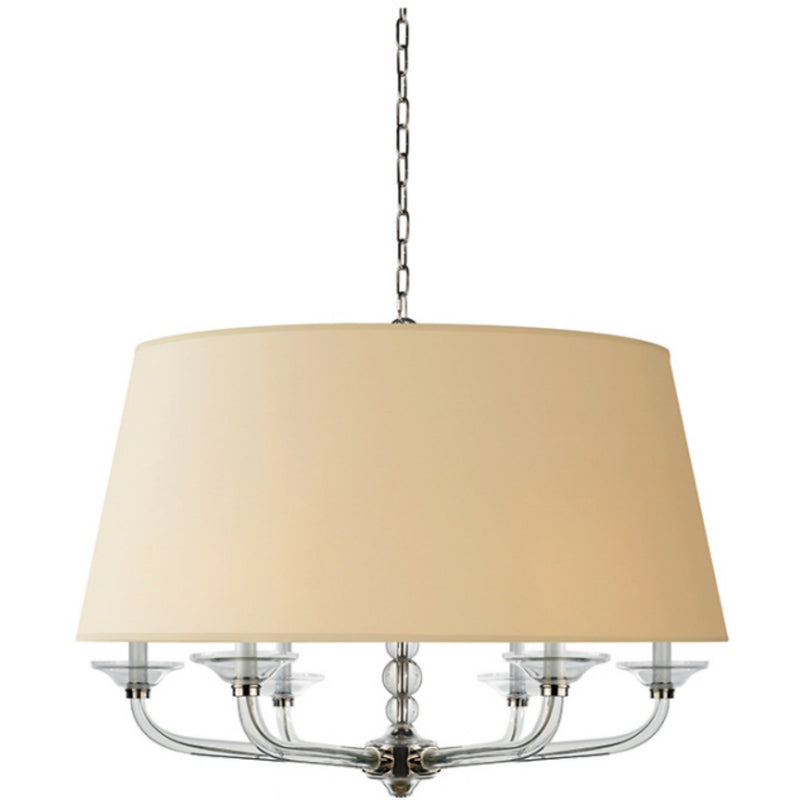 Visual Comfort CHC 1526PN-NP Chapman & Myers Crystal Stacked Ball Hanging Shade in Polished Nickel