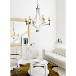Visual Comfort CHC 1530PN-NP Chapman & Myers Crystal Cube Large Chandelier in Polished Nickel