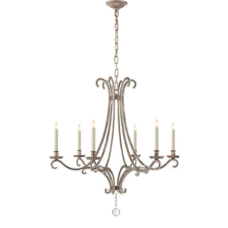Visual Comfort CHC 1550BSL-CG Chapman & Myers Oslo Medium Chandelier in Burnished Silver Leaf