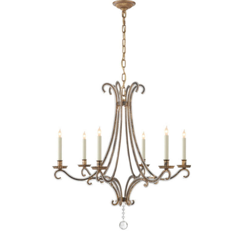 Visual Comfort CHC 1550GI-CG Chapman & Myers Oslo Medium Chandelier in Gilded Iron
