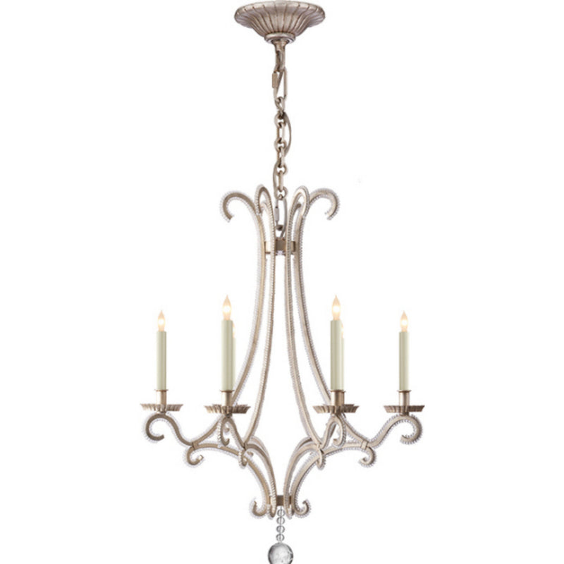 Visual Comfort CHC 1552BSL-CG Chapman & Myers Oslo Small Chandelier in Burnished Silver Leaf