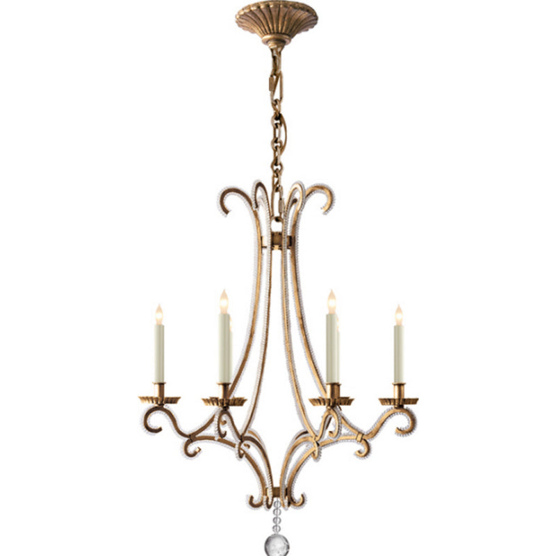 Visual Comfort CHC 1552GI-CG Chapman & Myers Oslo Small Chandelier in Gilded Iron